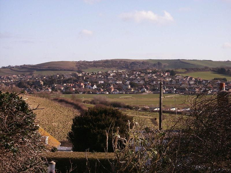 Dorset Photo Gallery West Bay View Inland From West Cliff